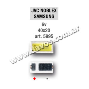 ART. 5995 - LED PANTALLA 6V 40X20 JVC - NOBLEX - SAMSUNG