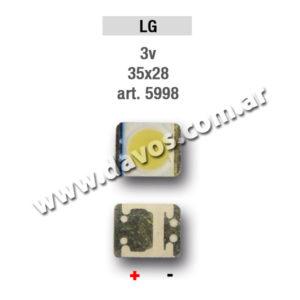 ART. 5998 - LED PANTALLA 3,5V 35X28 LG