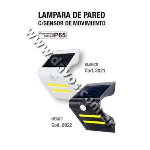ART. 8021 - ENERGIA SOLAR - LAMPARA DE PARED BLANCA