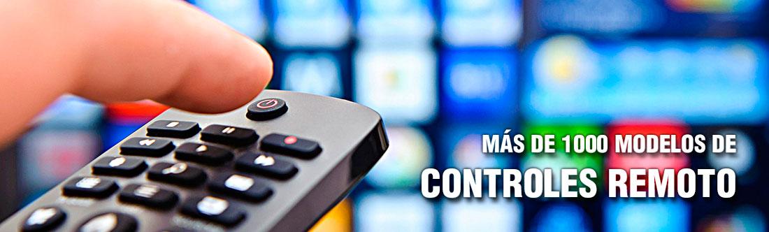 Más de 1000 modelos de controles remoto