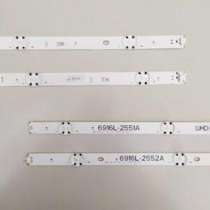 ART. 6506 - TIRA DE LED 4x2 LG 49UH6500-SB 97,5CM (Left 1 + Right 1)